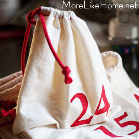 muslin advent calendar bags tutorial diy