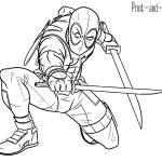 Dibujos De Deadpool Para Colorear A Lapiz A Color