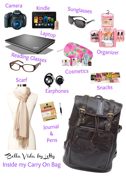 What to Pack in Your Carry On Bag - Bella Vida by Letty