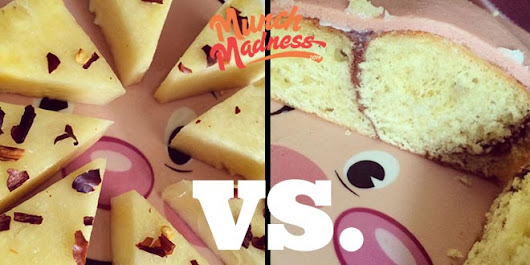 Munch Madness 2014: Round 1 Match 4: Fancy Pineapple vs. Cinna-logna Roll, by Chris Durso | Knuckle Salad