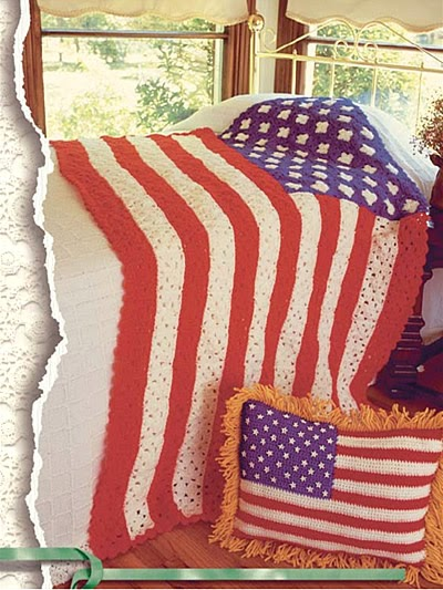 Free Crochet Pattern Friday Stars And Stripes Flag Afghan