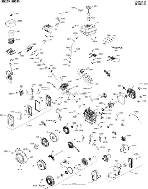 Kohler SH255-0101 BASIC Parts Diagram for Engine