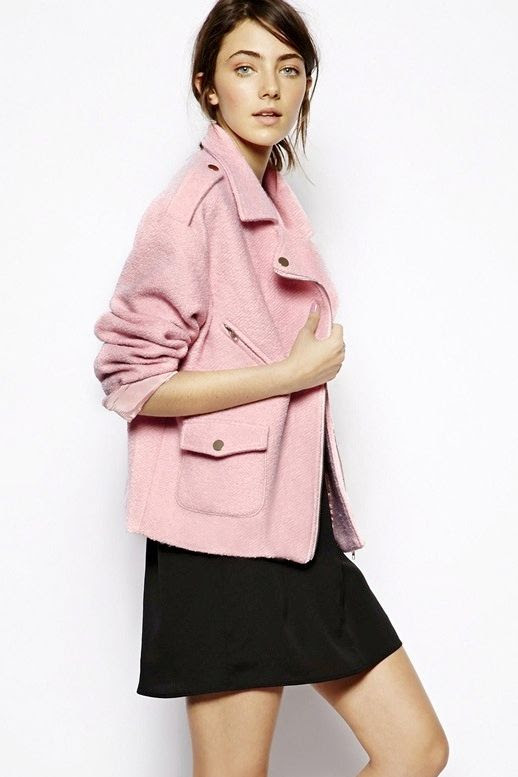 LE FASHION BLOG PERFECT PINK MOTO JACKET PASTEL PINK WOOL BIKER JACKET SISTER JANE ASOS 1 photo LEFASHIONBLOGJUSTFEMALEPERFECTPINKMOTOJACKET1.jpeg