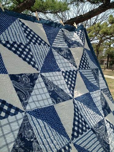 Dad's nautical quilt