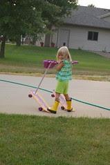 Look mom, it's like water skiing!