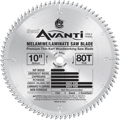 Saw Blade Comparison Freud Tk806l Avanti 10 Inch 80 Tooth