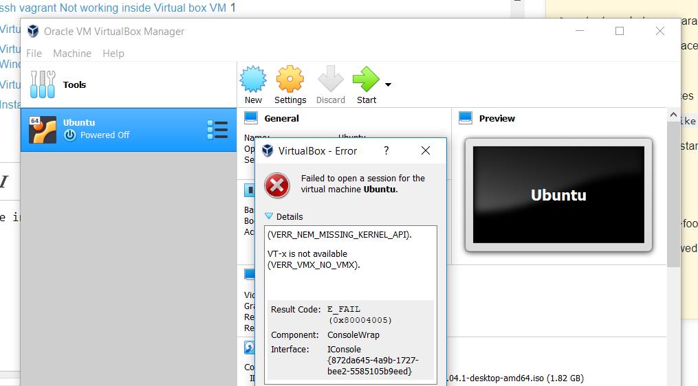 Virtual box is not working on windows 10