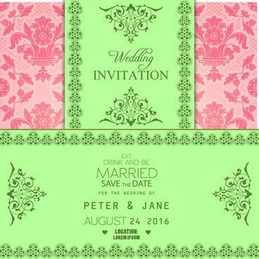 Wedding invitation vector free vector download (2,759 Free