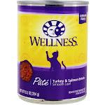 Wellness Pet Grain Free Smooth Loaf Pate Cat Food Turkey & Salmon Entree 12.5 oz.