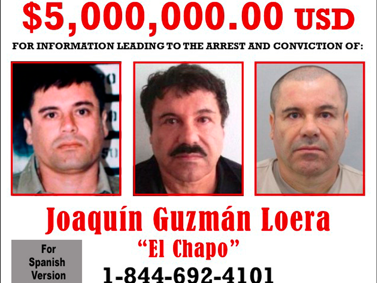 "Mexican drug lord Joaquin ""El Chapo"" Guzman will not be captured."