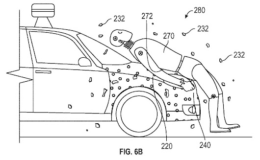 Google's New System will Leave the Pedestrian 'glued' to the Vehicle in a Crash