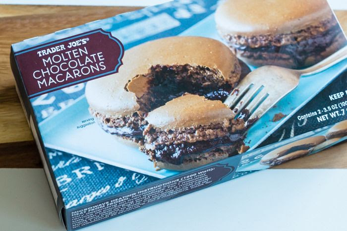 trader joe's molten chocolate macarons review : part of a weekly review series of tj's desserts and treats
