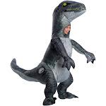 Velociraptor Blue Inflatable Child Costume