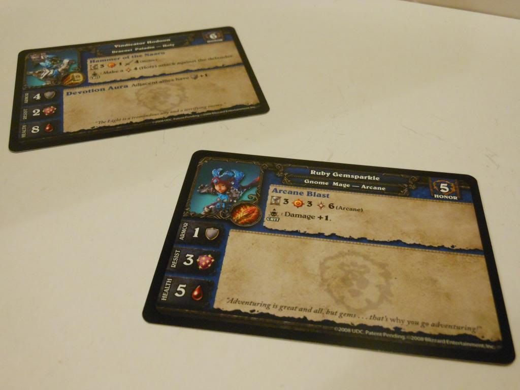 World of Warcraft Alliance cards