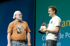 """Brendan Humphreys and James Gosling, General Session """"The Toy Show"""" on June 5, JavaOne 2009 San Francisco"""