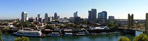 The Sacramento skyline, as seen from The Ziggu...