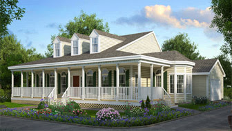 One Story House with Front Porch