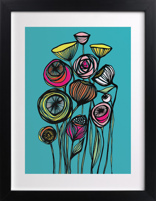 Alcanena Floral Wall Art Prints by Gill Eggleston | Minted