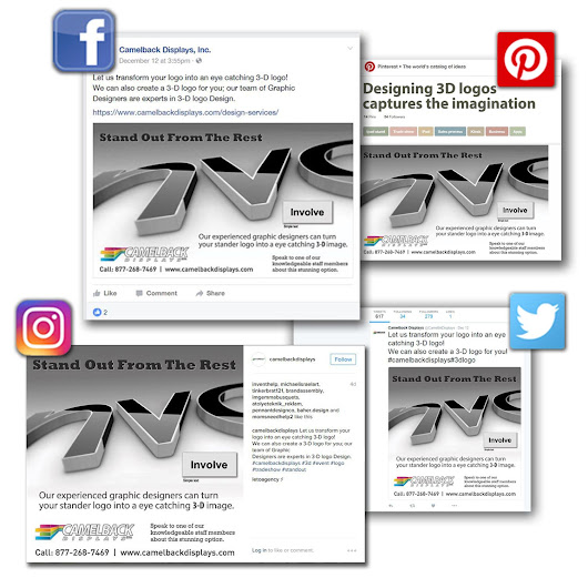 Social Media Image Design Services | Camelback Displays