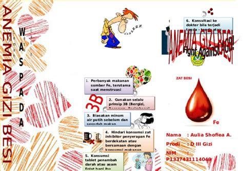 leaflet anemia gizi besi aulia shofiea azizah