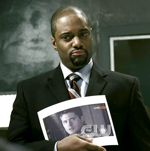 Whitfield as 'Agent Henricksen' on Supernatural [click to enlarge]