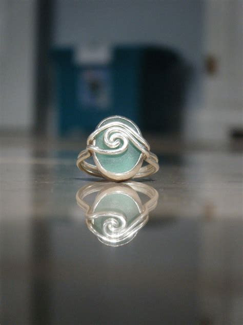 Sea Glass Engagment Ring ? Martha ? Made By Meg