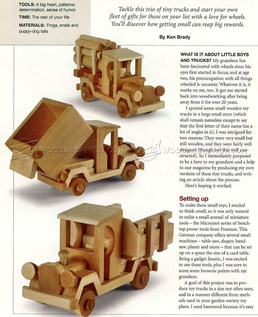 diy free wooden toy truck patterns plans free | total update