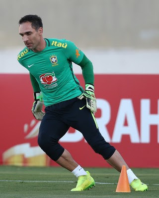 Fernando Prass, treino seleção brasileira (Foto: Lucas Figueiredo / MoWA Press)