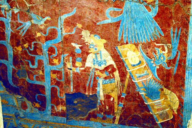 El Azul Maya Presente En Cacaxtla E Consulta Com Tlaxcala2019