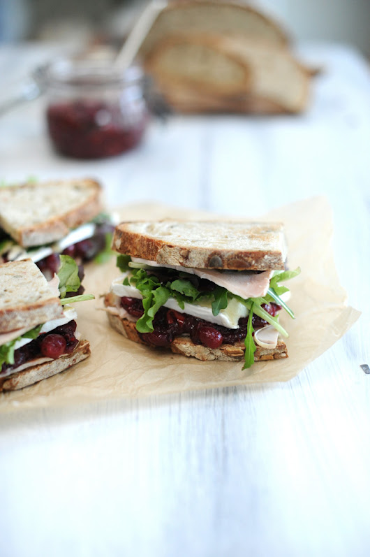 Spiced cranberry and turkey sandwich on seeded sourdough | The Sourdough School