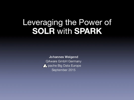 Leveraging the power of solr with spark
