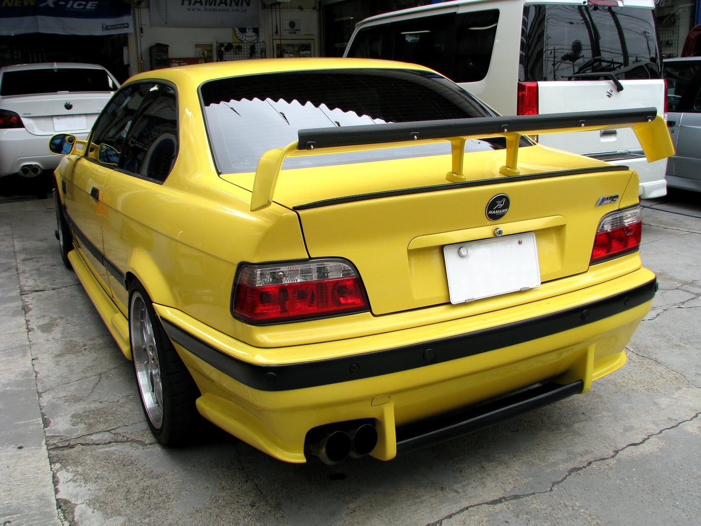 E36 STW Rear Bumper with Diffuser Wing  Bmw racing parts