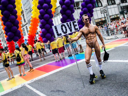 Loud, Proud & Scantily Clad at the NYC Pride March (Photos)