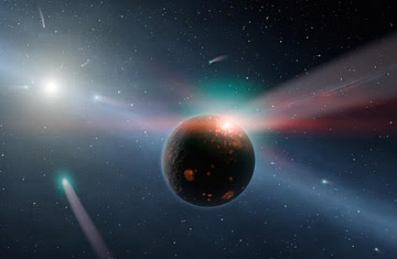 400 Trillion Miles Away, a Comet Storm Waters a World