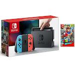 Nintendo Switch 32GB Gray Console with Neon Blue Joy-Con + Mario Odyssey Game