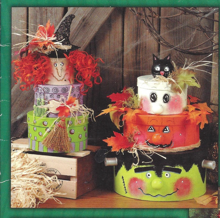 Marilyn Gossett Designs  Pretty & Playful Paper Mache  Copyright 2000 HOTP  Have you seen these big stacking boxes at your Craft Warehouse Store?  This is what you do with them.