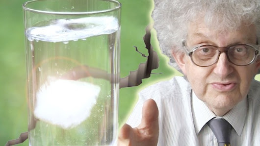 Professor Martin Poliakoff of Periodic Videos Explains What Causes Ice Cubes To Crack When They Are Added To a Drink