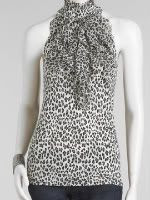 Arden B. High Neck Leopard Halter