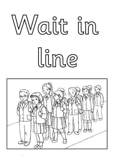 Ingilizce Sınıf Kuralları Boyama Sayfaları