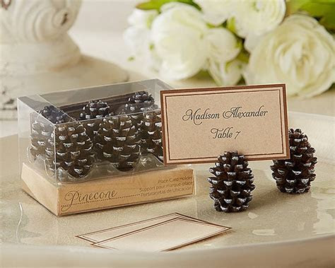 pine cone place card holder by hope and willow