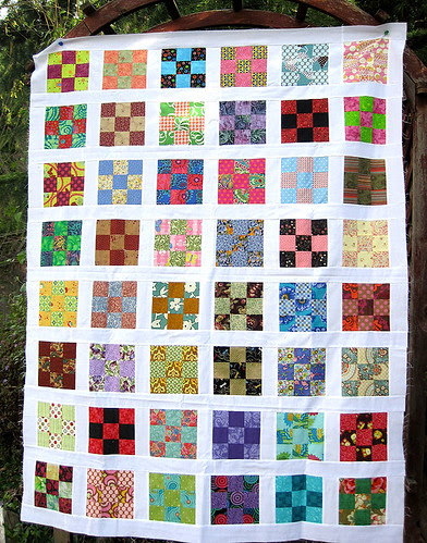 Three by Three quilt top