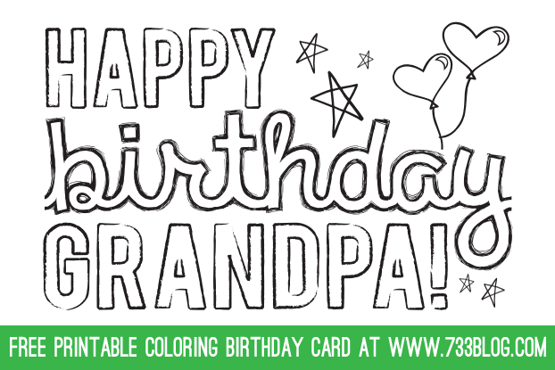 - Lovely Happy Birthday Grandpa Coloring Pages - Coloring Coloriage