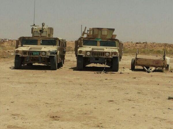 More US made Humvees captured by ISIS in Mosul and being transferred to ISIS territory in Syria