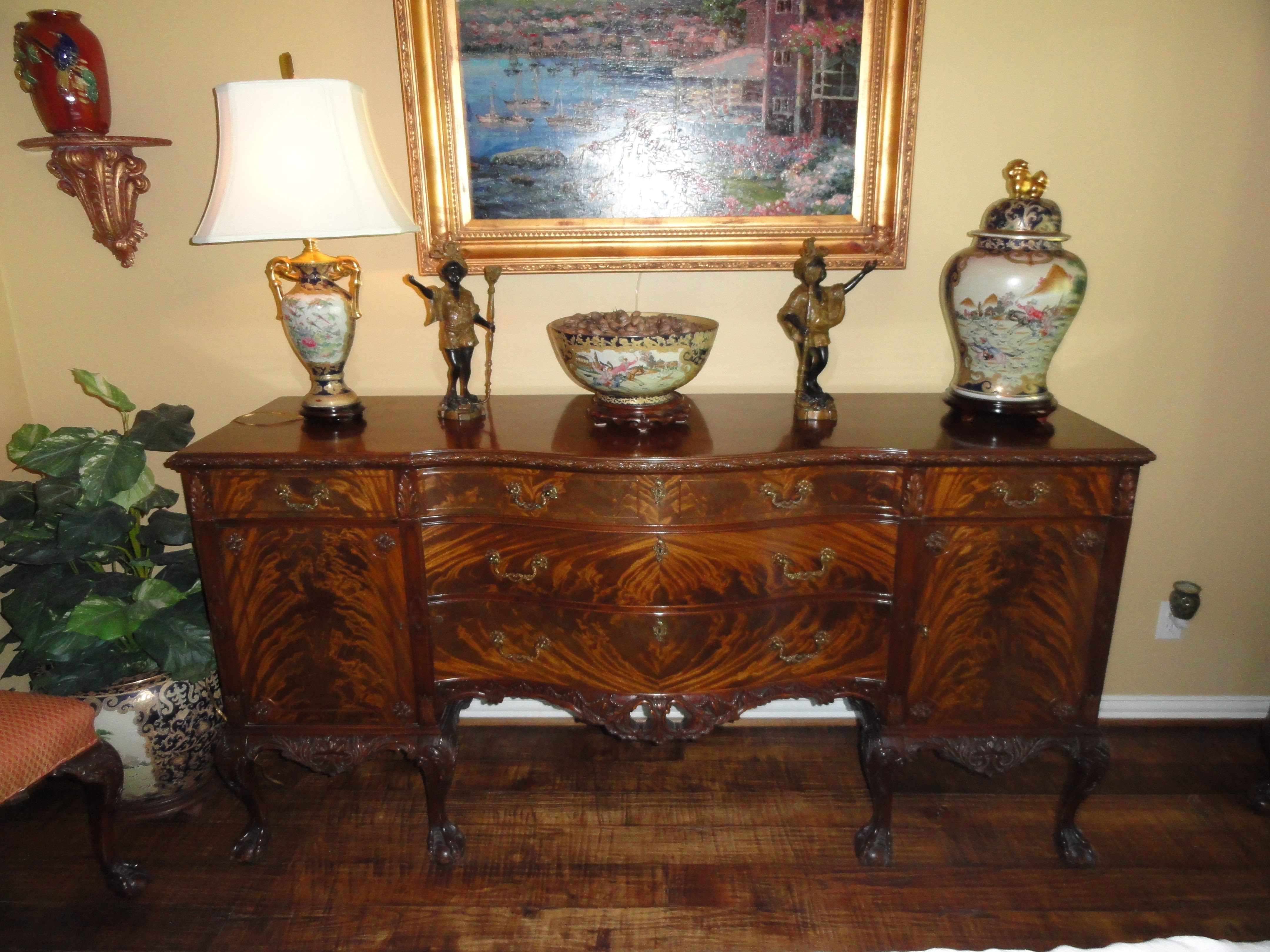 Romweber Chippendale 12 Piece Dining Room Suite Flame ...