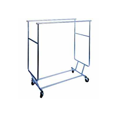 Chrome Double Bar Collapsible Rolling Rack