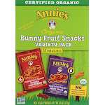 Annies Organic Bunny Fruit Snacks Variety Pack - 12 pack, 0.8 oz pouches