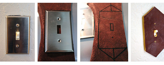 Leather Switch Plate - pixyofwhimsy