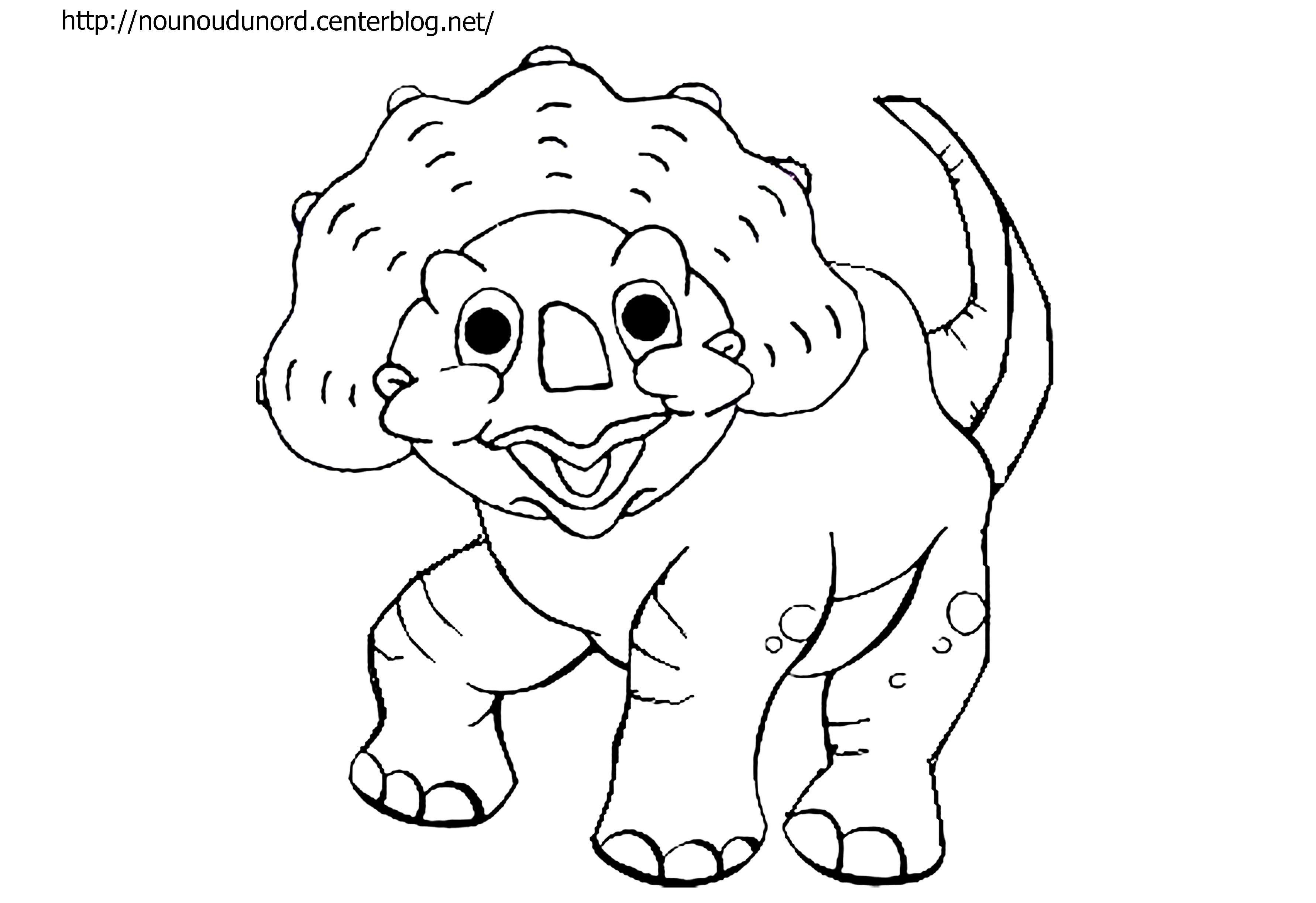 Coloriage Petit dinosaure dessiné par nounoudunord