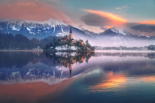Sunrise over Bled