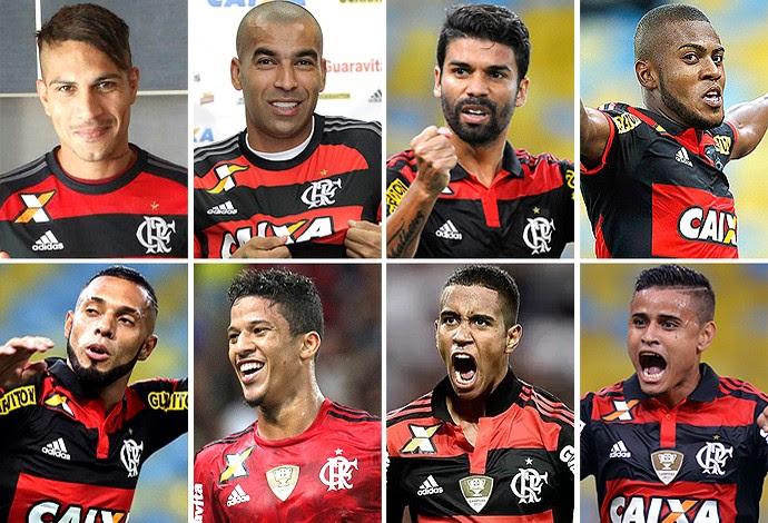 Montagem Flamengo jogadores (Foto: Globoesporte.com)